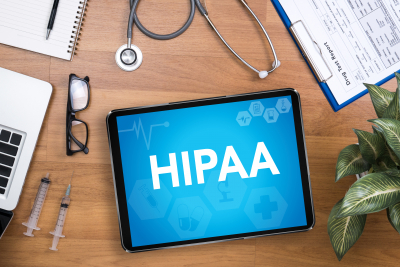 HIPAA illustration in a tablet